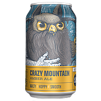 Crazy Mountain Amber Ale Can by Crazy Mountain Brewing Co.