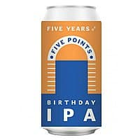 Birthday IPA by Five Points Brewing Co