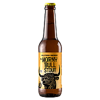 Horny Bull Stout by Hillstown